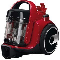 Aspirator fara sac Bosch 3A BGC05AAA2, 700W, 1.5 l, Filtru igienic PureAir, Perie parchet, Easy Clean, Rosu/Negru