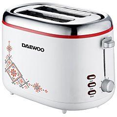 Prajitor de paine DBT70TR Daewoo, 900 W, design traditional, 2 felii, Alb