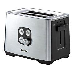 Prajitor de paine Tefal TT420D30 Equinox, 900W, Functie de dezghetare si reincalzire, 7 niveluri, Inox/Negru