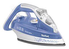 Fier de calcat Tefal UltraGliss FV4996EO, 2600W, abur 45g/min, functie Auto Off, Albastru
