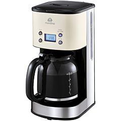 Cafetiera cu filtru Mandine MCM100T-20, 1000 W, 1.5 Litri, Negru/Bej