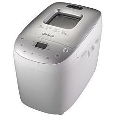 Masina de facut paine BM1600WG Gorenje, 1.6kg, 16 programe, 850W, Invelis teflon, Alb/Argintiu
