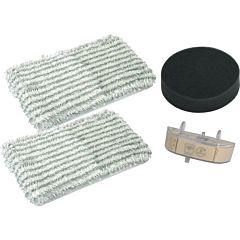 Kit filtre pentru aspiratoare Clean & Steam Rowenta ZR005801, 2 mopuri din microfibra, 1 filtru de spuma, 1 cartus anticalcar