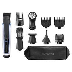 Aparat de tuns barba si parul 10 in 1 Remington Graphite Series G6 PG6000, Rezistent la apa, Alb/Negru
