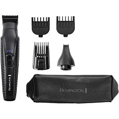Aparat de tuns barba si parul 5 in 1 Remington Graphite Series G2 PG2000, Autoascutire, Trimmer nas si urechi, Negru