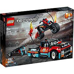 LEGO Technic Camion si motocicleta pentru cascadorii 42106