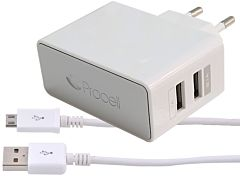 Incarcator retea Procell, 2 x USB, 2.1 A