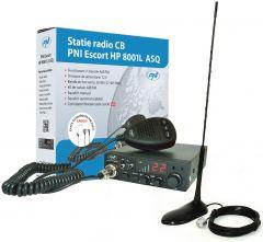 Statie radio auto HP8001 PNI + Antena, 40 canale, pana la 9 km, ASQ reglabil
