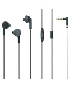 Casti In-ear PSINTM10Bk Poss, 1.2m, microfon, jack 3.5mm, Negru