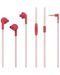 Casti In-ear PSINTM10RD Poss, 1.2m, microfon, jack 3.5mm, Rosu