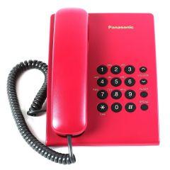 Telefon fix KX-TS500FXR Panasonic, Setare Ton/Puls, Rosu