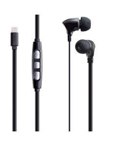 Casti In-Ear  PSINTL Poss, Lightning, 1.2m, Negru