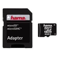 Card de memorie Hama, MicroSDHC, 8GB, Clasa 10, 22MBs + Adaptor