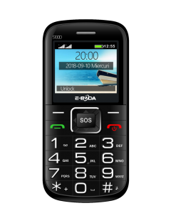 """Telefon mobil senior S100D E-boda, 1500 mAh, 2.2"""", Dual SIM"""