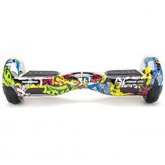 Hoverboard Junior Lite Freewheel, motoare 2 x 200 W, viteza 12 km/h, Graffiti Galben