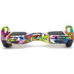 Hoverboard Junior Lite Freewheel, motoare 2 x 200 W, viteza 12 km/h, Graffiti Mov