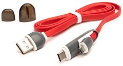 Cablu microUSB cu adaptor Type-C QC301 CML E-boda, Rosu