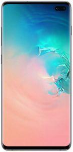 Telefon mobil S10+ Samsung, 128 GB, Dynamic AMOLED, Quad HD+ Curved, Camera tripla cu Dual OIS, Alb