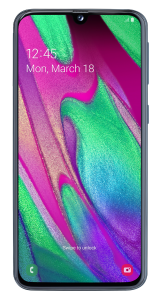 Telefon Samsung Galaxy A40, 64 GB, 4 GB RAM, 16+5 MP, Procesor Octa Core, Negru