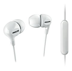 Casti In-Ear SHE3555WT/00 Philips, Microfon, Jack 3.5mm, Cablu 1.2m, Alb