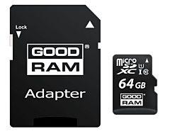 Card de memorie Goodram microSDXC 64GB, Clasa 10, UHS-I + Adaptor microSD
