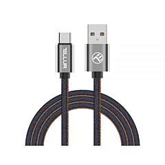 Cablu USB Type-C Tellur TLL155381, 1m, Denim, Albastru