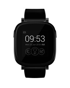 "Ceas smartwatch Allview Allwatch V, Silicon, 1.3"", LCD, Notificari, Somn, Ritm cardiac, Calorii, 72h Autonomie, Black"