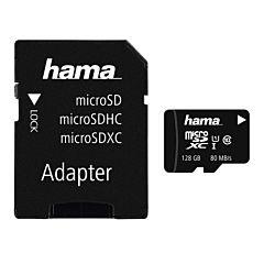 Card de memorie MicroSD 128 GB Hama, Clasa 10