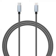 Cablu Type-C la Lightning MFI Gri 1.5m Lemontti