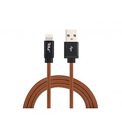 Cablu de date Tellur TLL155331, USB/Lightning MFi, 1 m, 2.4 A, piele naturala