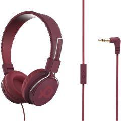 Casti on ear PSH186PR Poss, Cu fir, 32 ohm, Rosu inchis