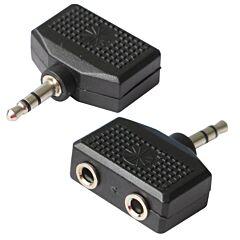 Adaptor spliter Poss PSAUD10 jack 3.5 la 2 x jack 3.4