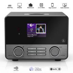 Radio Internet IR110MS Hama, Streaming-Radio, Spotify Connect, WLAN, LAN, Jack 3.5mm, Optic, USB, Negru