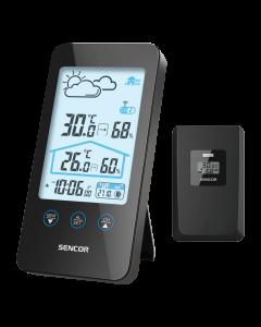 Statie meteo SWS 3000B Sencor, grafic de temperatura interior/exterior, 1 senzor inclus