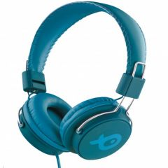Casti bluetooth over ear PSHB186BG Poss, Verde/Albastru