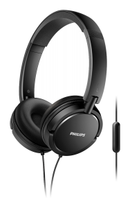 Casca over ear cu microfon SHL5005/00 Philips, Cablu 1.2m, Jack 3.5mm, Negru