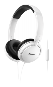 Casca over ear cu microfon SHL5005WT/00 Philips, Cablu 1.2m, Jack 3.5mm, Alb