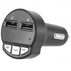 Modulator FM PSCACFM01BK Poss, incarcare USB, Bluetooth, Negru