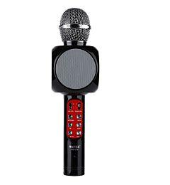 Microfon Karaoke Wireless cu Bluetooth, Soundvox WS-1816 cu Boxa inclusa si Joc de Lumini, Negru