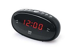 Radio cu ceas Nea One CR100, Dual alarm, Negru