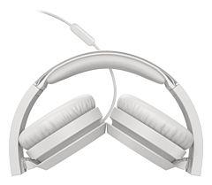 Casti audio On-ear Philips TAH4105WT, cu fir, microfon, Alb