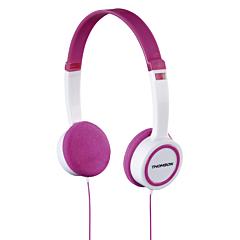 Casti Thomson HED1105P On-Ear pentru copii, Roz/Alb