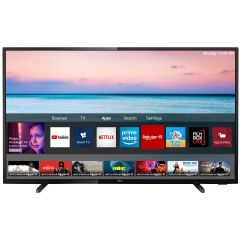 Televizor LED Smart 43PUS6504 Philips, 108 cm, 4K Ultra HD, Negru