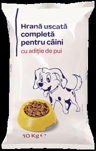 Hrana uscata completa pentru caini cu aditie de pui 10kg