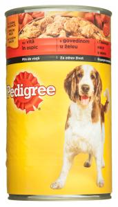 Hrana completa pentru caini adulti cu vita in aspic Pedigree 1.2kg