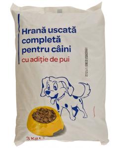 Hrana pentru caini cu pui Carrefour 3 kg