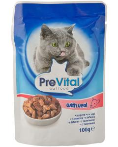 Hrana pisici cu vitel Pre Vital 100 g