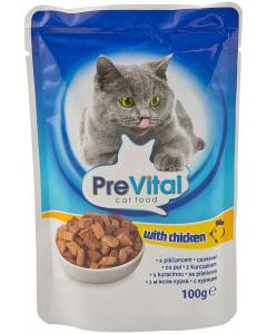 Hrana pisici cu pui PreVital 100g