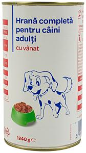 Hrana uscata pentru caini adulti cu vanat Carrefour 1240G