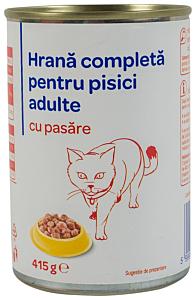 Hrana pisici cu pasare Carrefour 415G